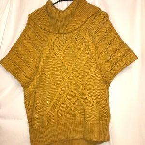 LOFT mustard yellow shirt sleeve sweater